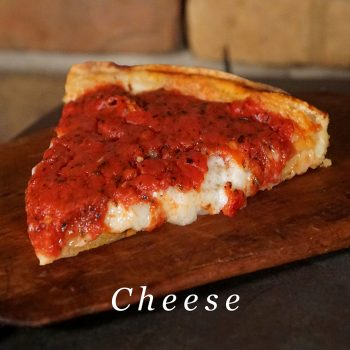 Kitchen 17 vegan deep dish cheese pizza